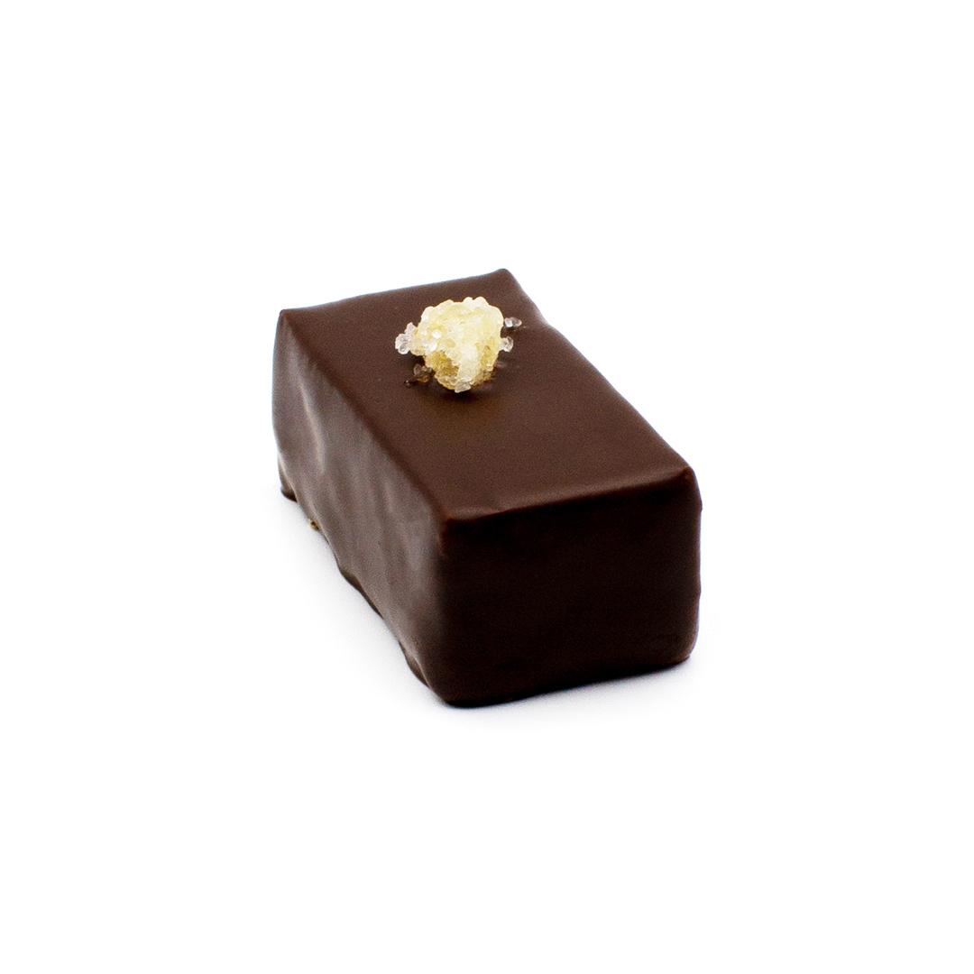 praliné gingembre, chocolat noir