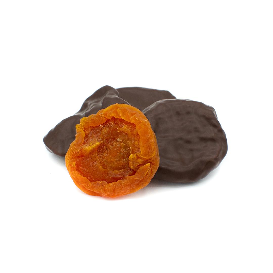 abricot confit enrobé de chocolat noir