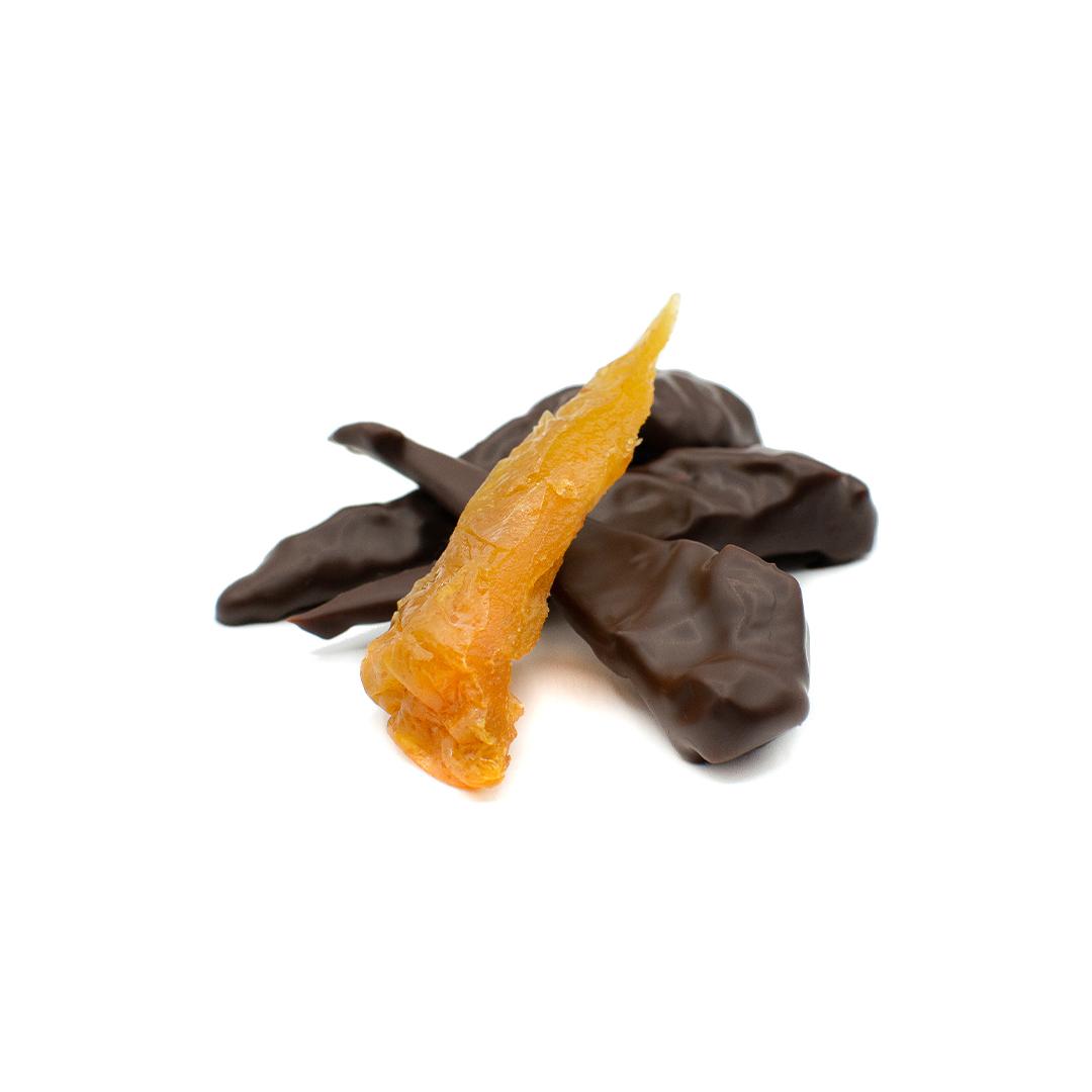 poire du Cap confite enrobée de chocolat noir
