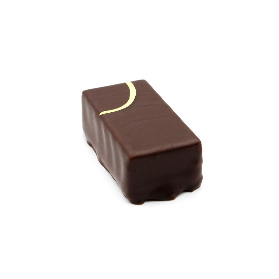 praline ganache au curry, chocolat noir