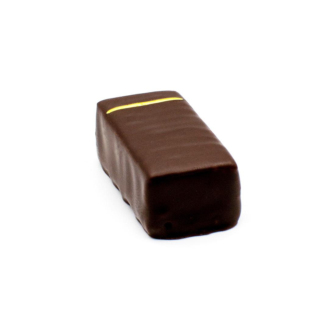 praline ganache passion et poivre de Timut, chocolat noir