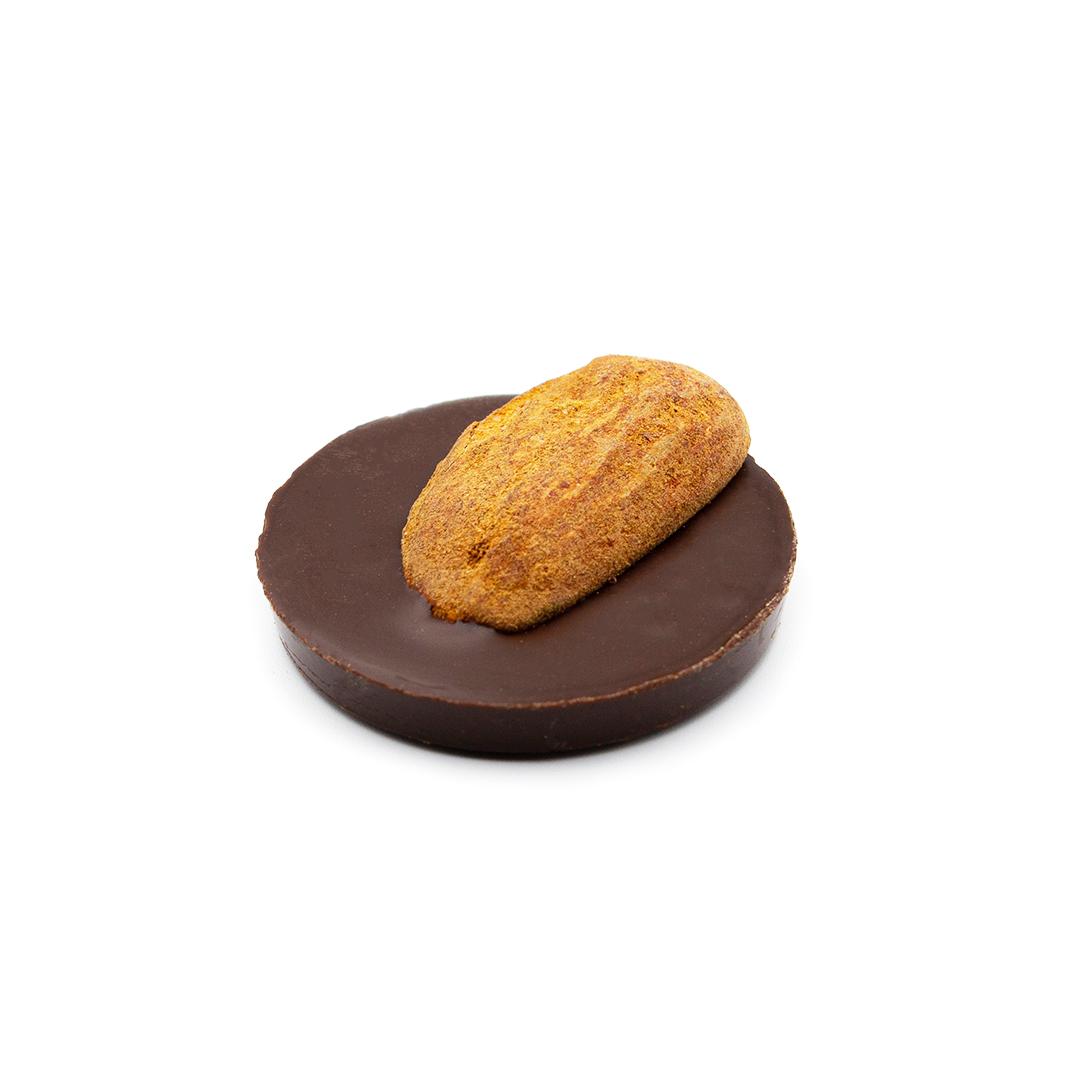 médaillon chocolat noir amande