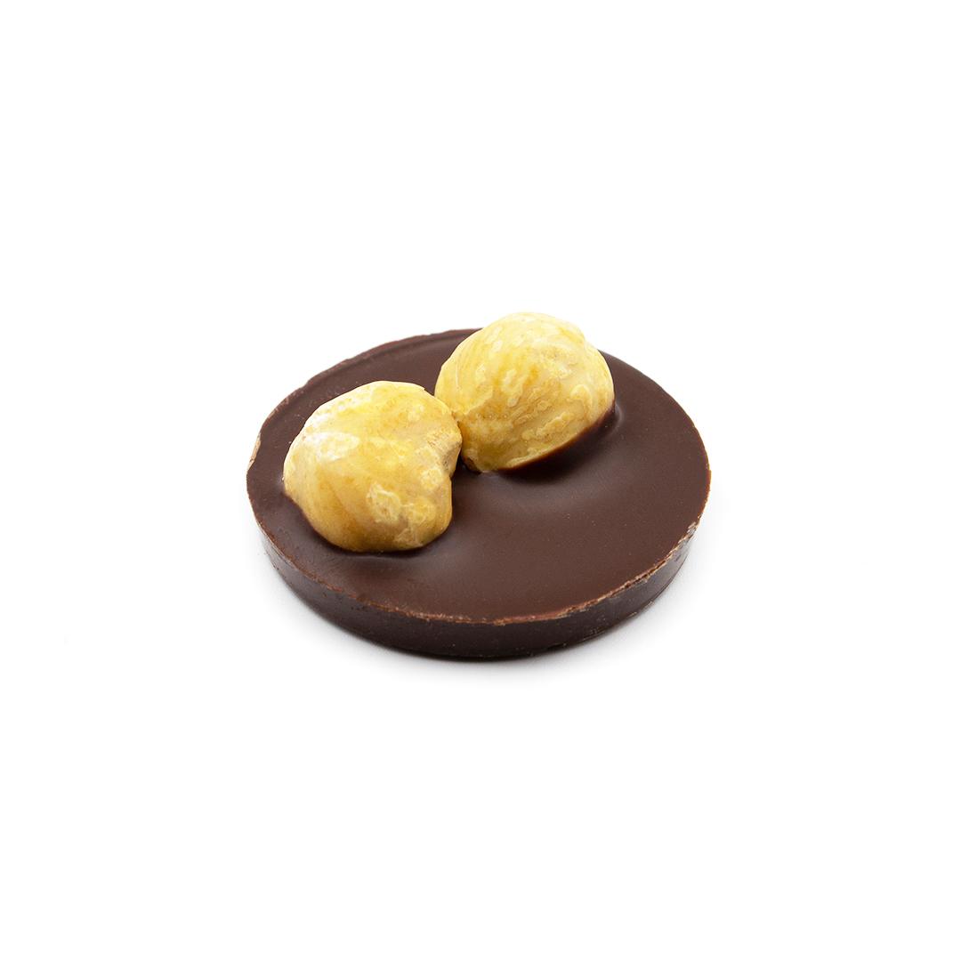 médaillon chocolat noir noisettes